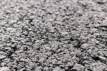 asphalt road fokussierten vordergrund mit