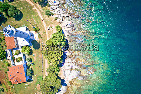 savudrija lighthouse and turquoise crystal clear