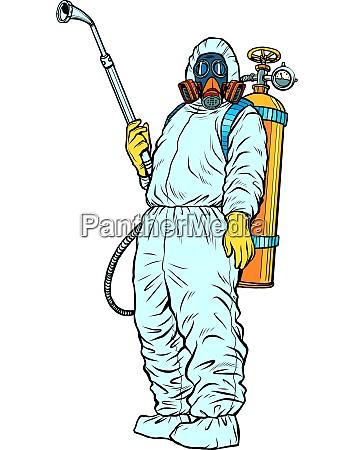 desinfektionsanzug schutz epidemie virus bakterium infektion