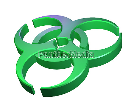 biohazard symbol 3d