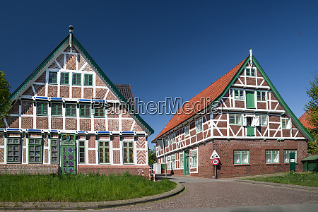 altes land village wolkenloser fruehling