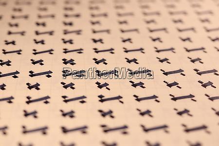 kalligraphischer buchstabe x lernfaehigkeiten papierseite kalligraphie