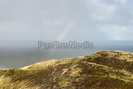 nordsee mit regenbogen