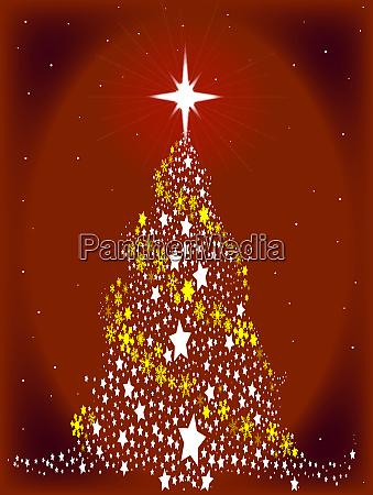 roter stern spangled weihnachtsbaum