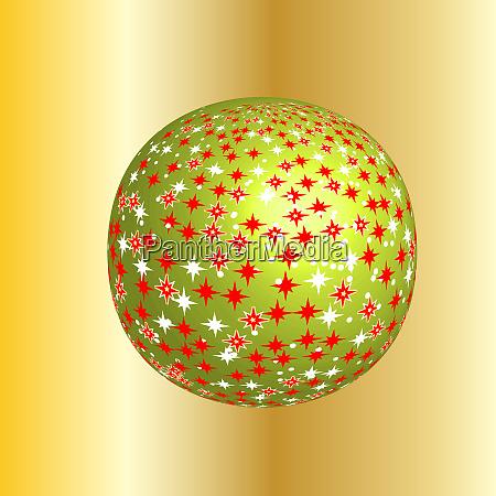 funkelnder weihnachtsglobus