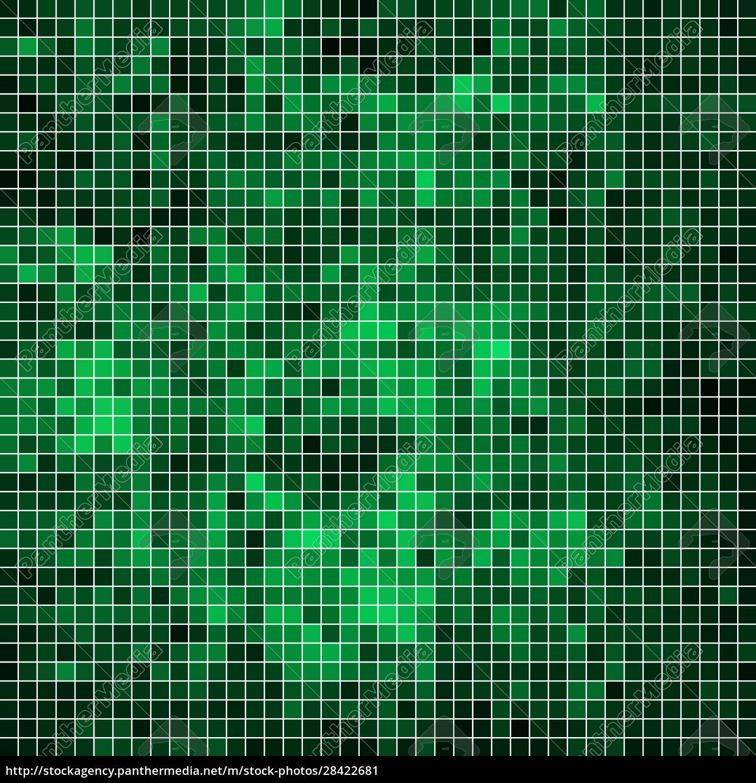 abstrakter, quadratischer, pixelmosaikhintergrund - 28422681