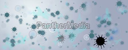 abbildung von antikoerpern und viren banner