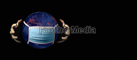 coronavirus infecting the world hands grasping