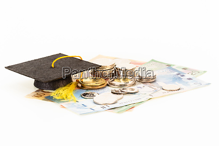 education costs concept with mortar board