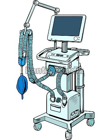 medizinisches beatmungsgeraet behandlung von lungenerkrankungen koma