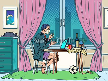 ein mann ohne hose blogger waehrend