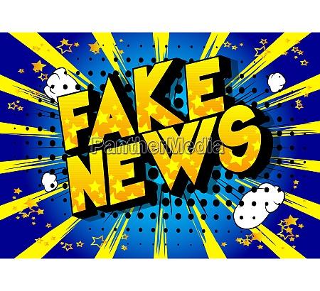 fake news comic buch stil