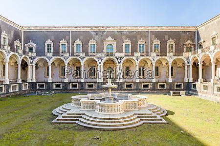 benedictine cloister and university in catania