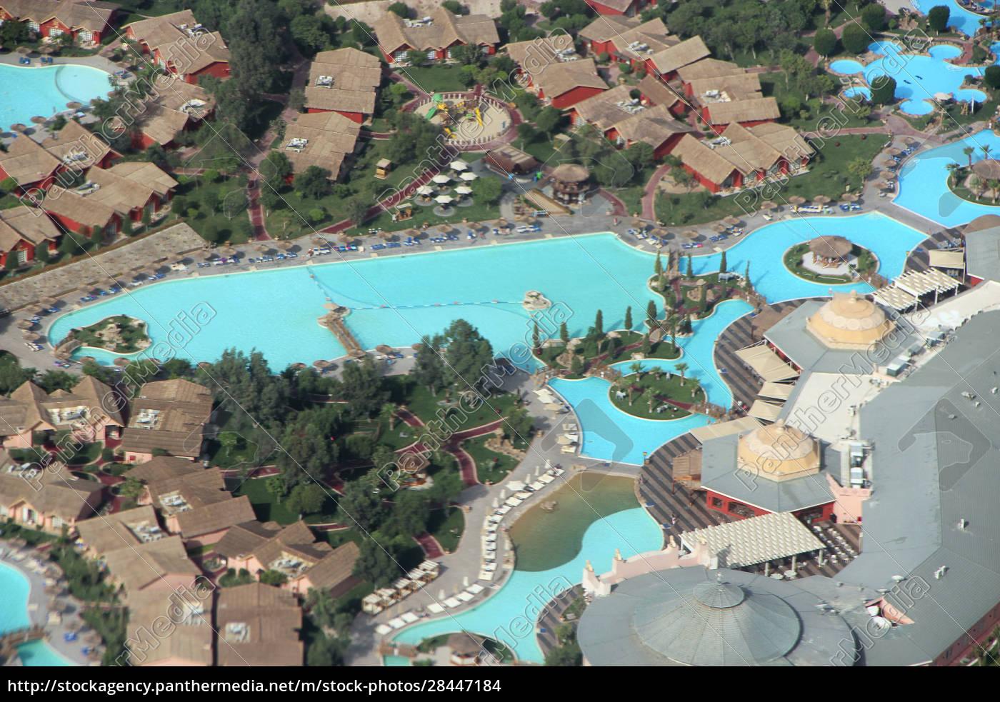 blick, auf, ägyptische, resorts, mit, pools - 28447184