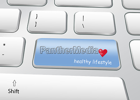 healthy lifestyle concept pc keyboard vector