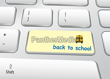 back to school concept pc keyboard