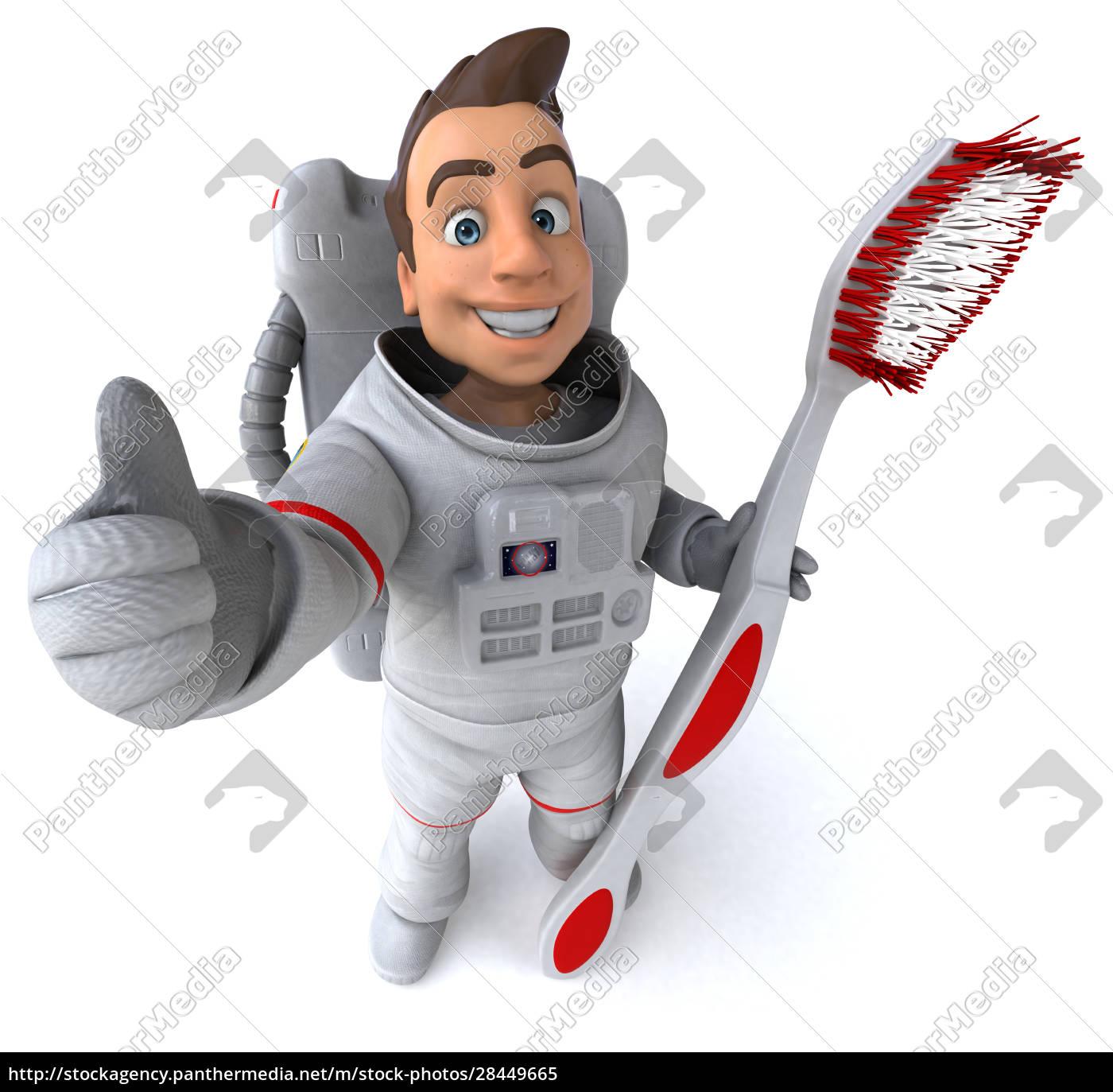 spaß, astronaut, -, 3d-illustration - 28449665