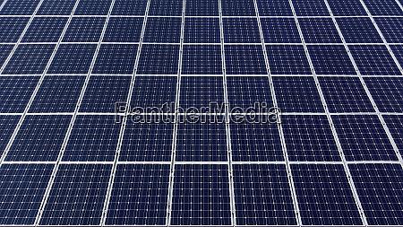 blaue solarzellen mit weissem rand