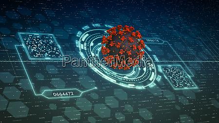 futuristische mikroskopoberflaeche