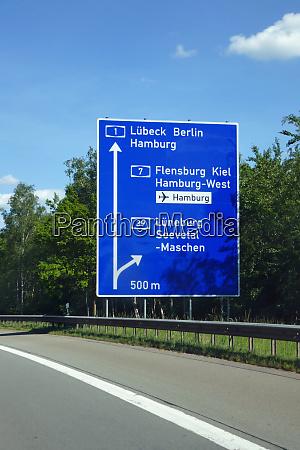 federal motorway exit