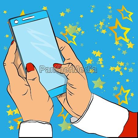 nahaufnahme der geschaeftsfrau die ihr smartphone