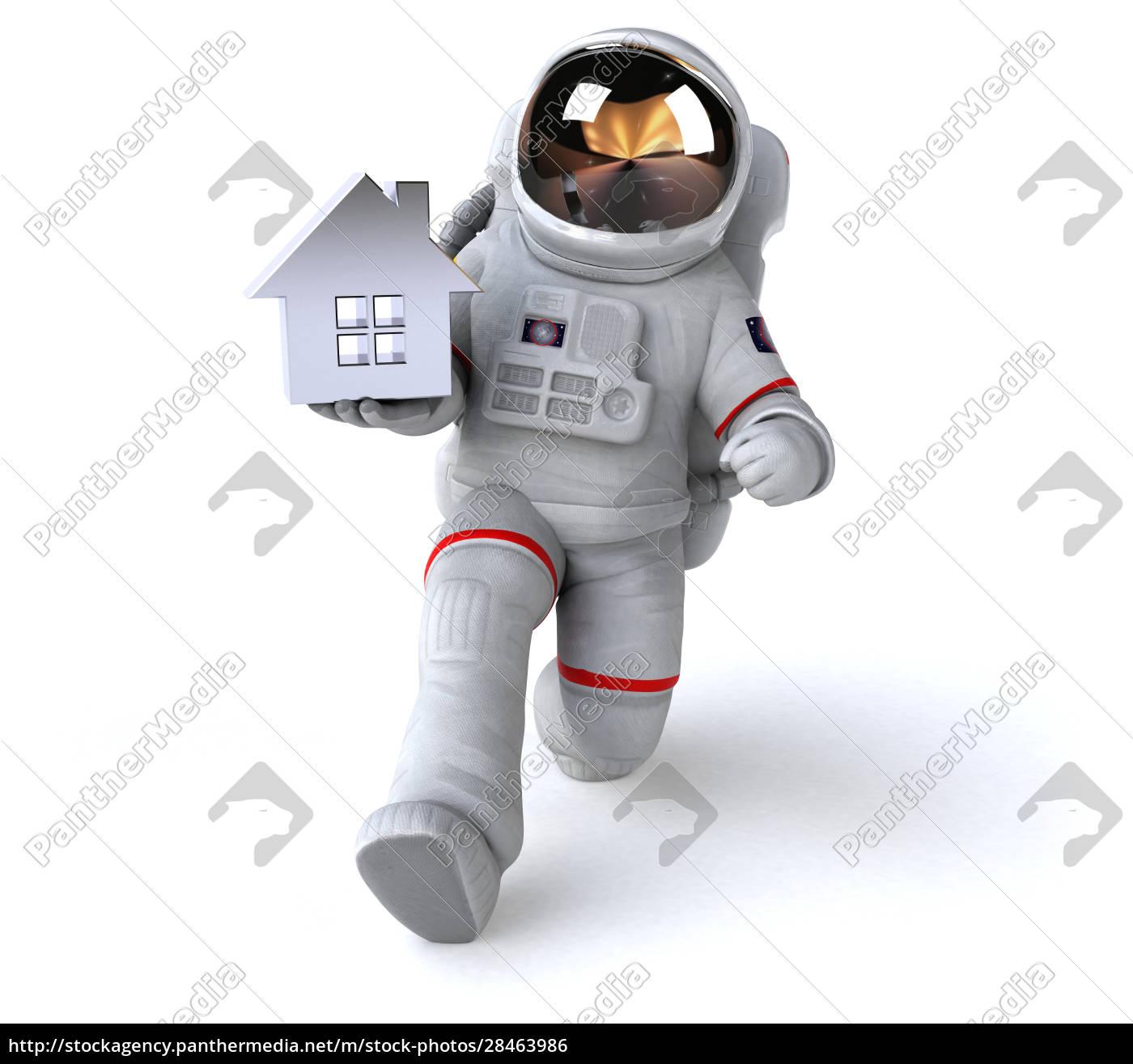 spaß, astronaut, -, 3d-illustration - 28463986