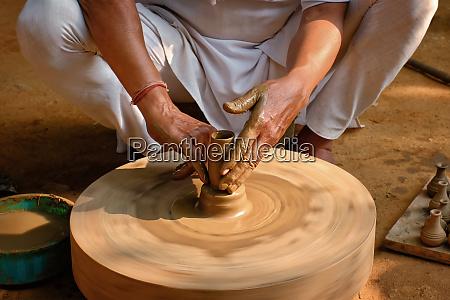 indian, potter, at, work, , shilpagram, , udaipur, - 28467311
