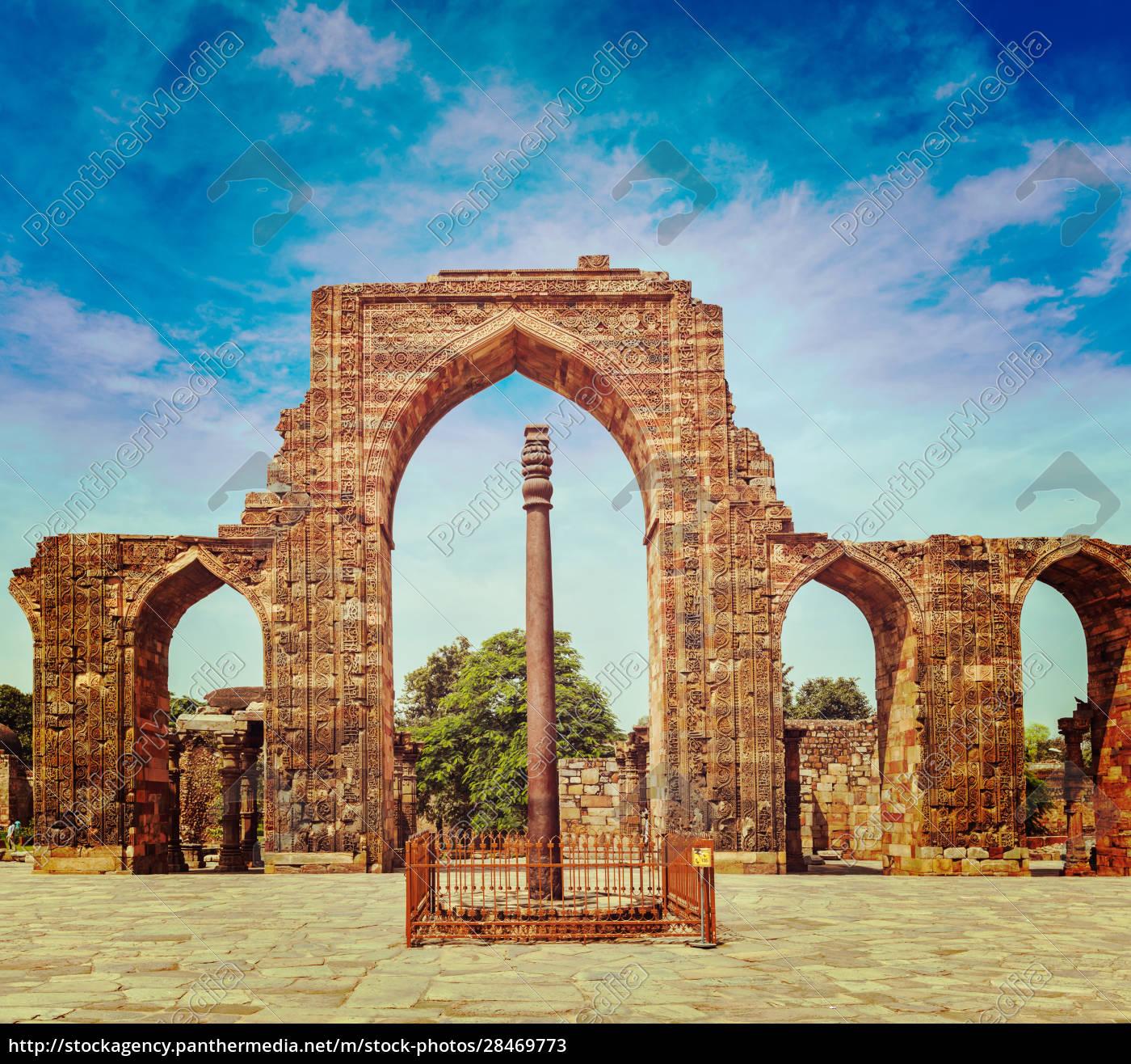 iron, pillar, in, qutub, complex - 28469773