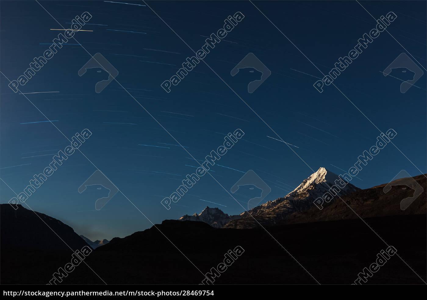 sternpfade, über, den, himalaya-bergen. - 28469754