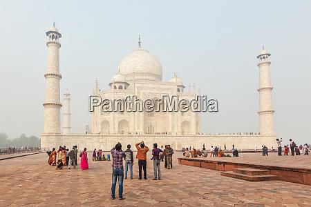 touristen, besuchen, taj, mahal, -, berühmtes - 28469742