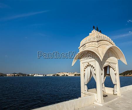 lake, pichola., udaipur, rajasthan, indien - 28471539