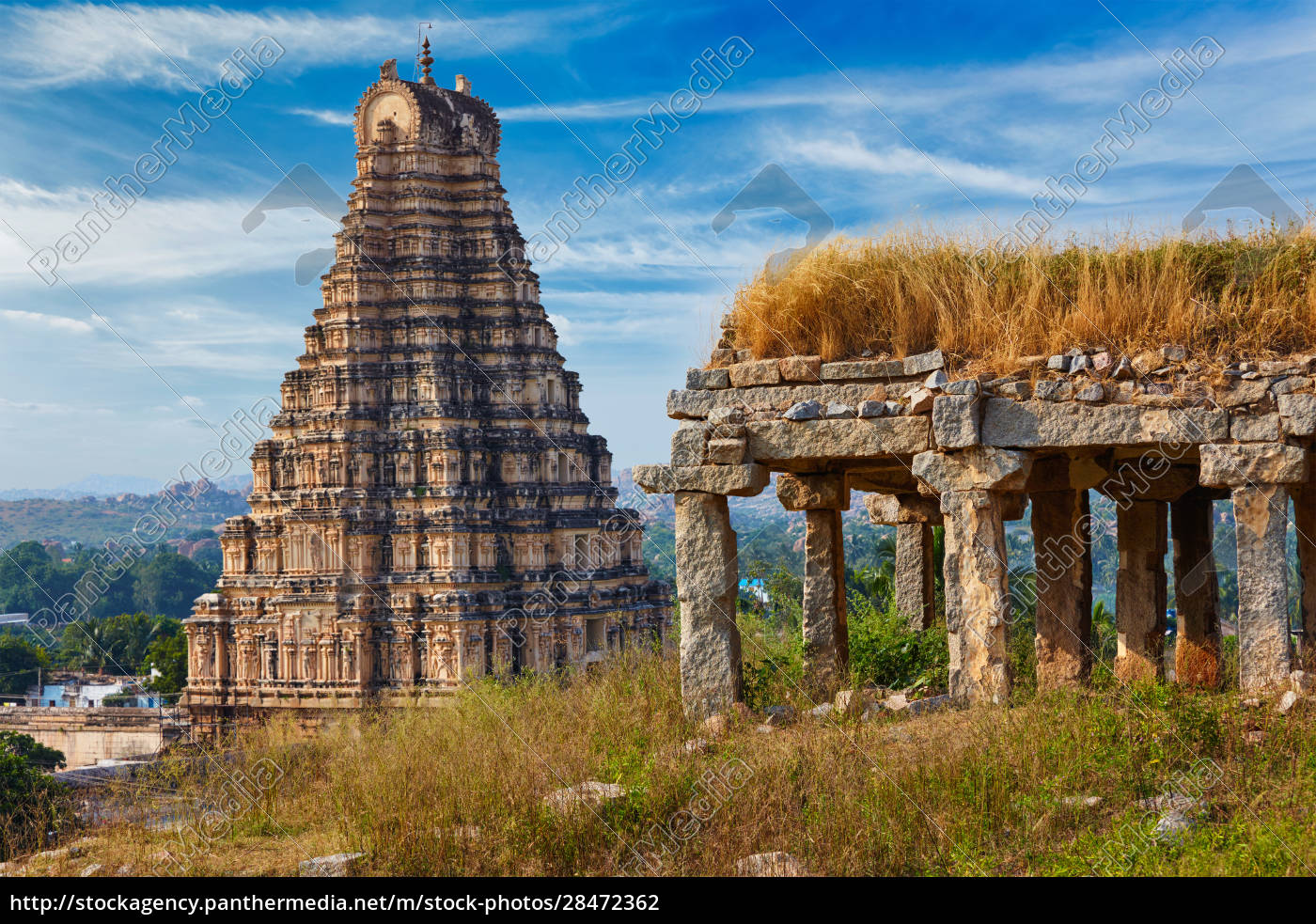 virupaksha, tempel., hampi, karnataka, indien - 28472362
