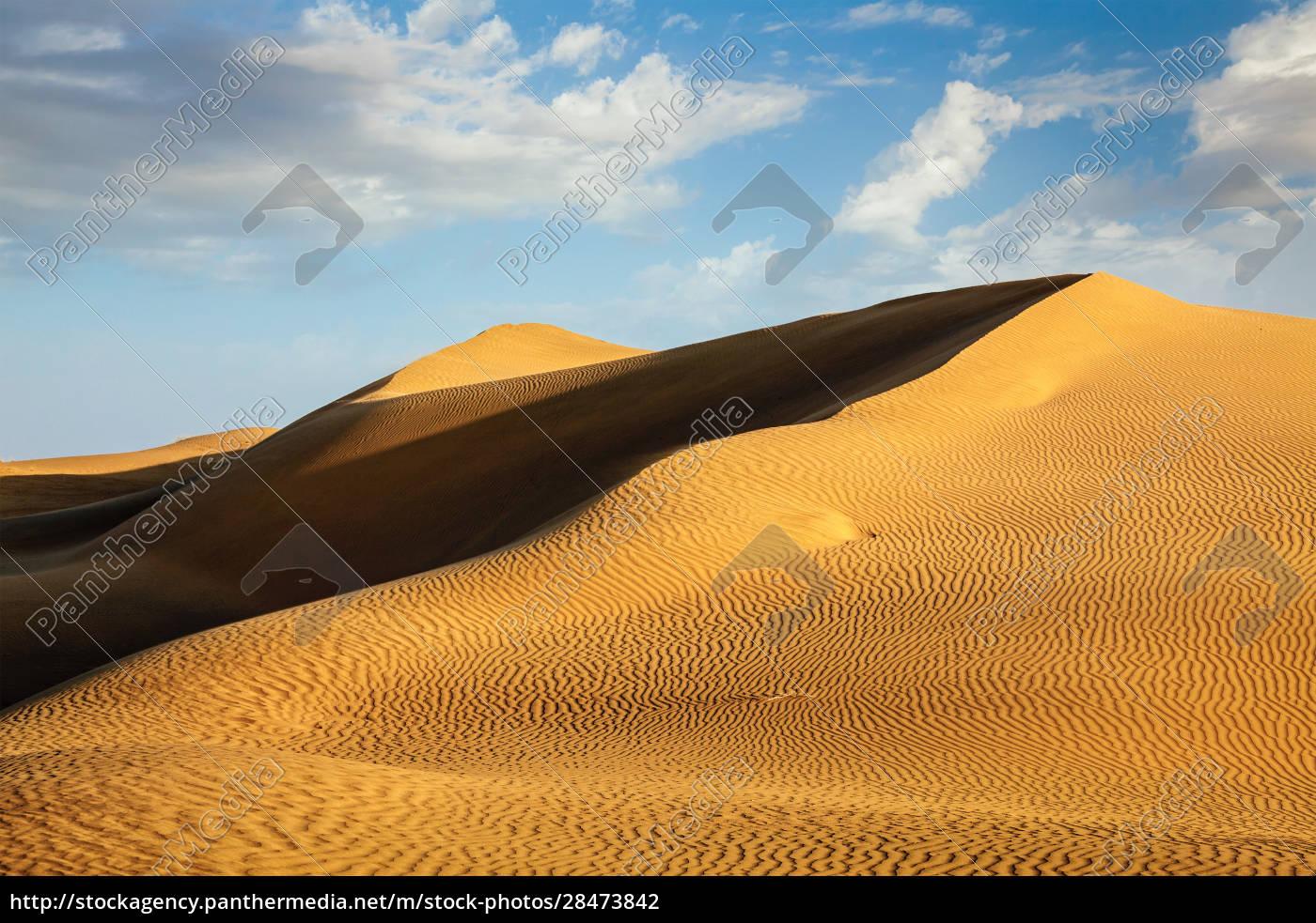dünen, der, thar-wüste, rajasthan, indien - 28473842