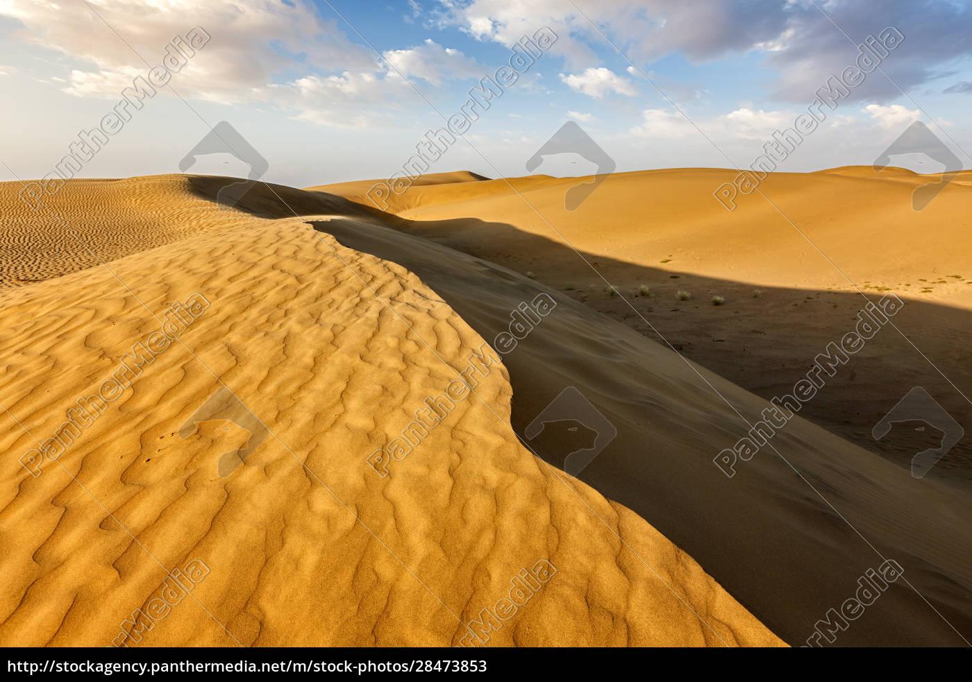 sanddünen, in, der, wüste - 28473853