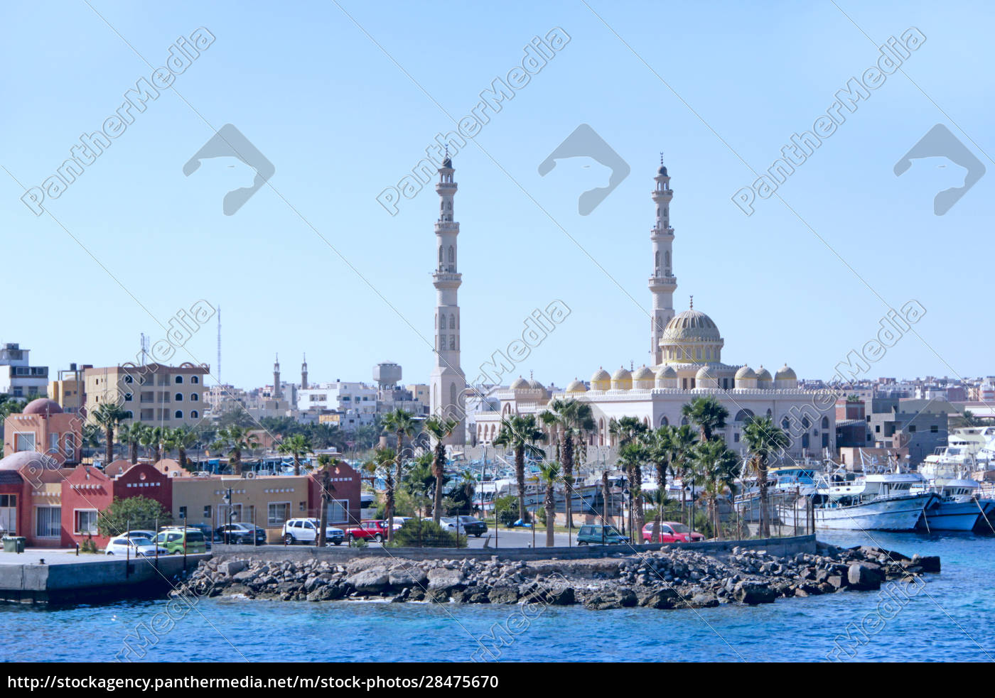 view, of, embankment, of, hurghada, with - 28475670