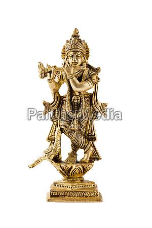 krishna statue auf weiss
