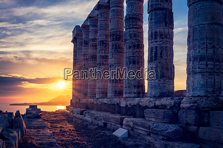 poseidon tempelruinen am kap sounio bei
