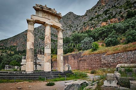 athena pronoia tempelruinen im antiken delphi