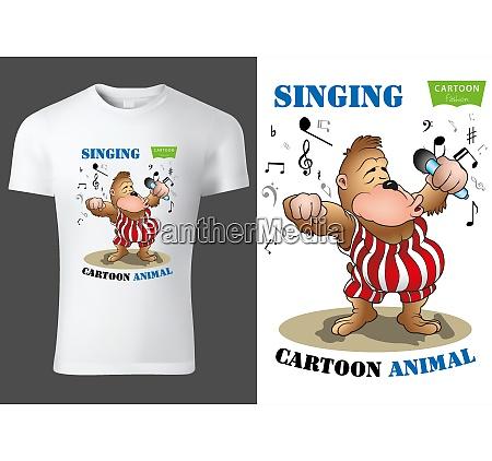 child t shirt design with cartoon