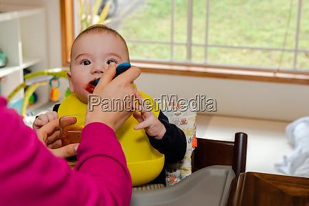 adorable, little, baby, boy, in, feeding - 28482243