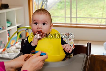adorable, little, baby, boy, in, feeding - 28482245