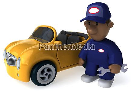 spass mechanik 3d illustration