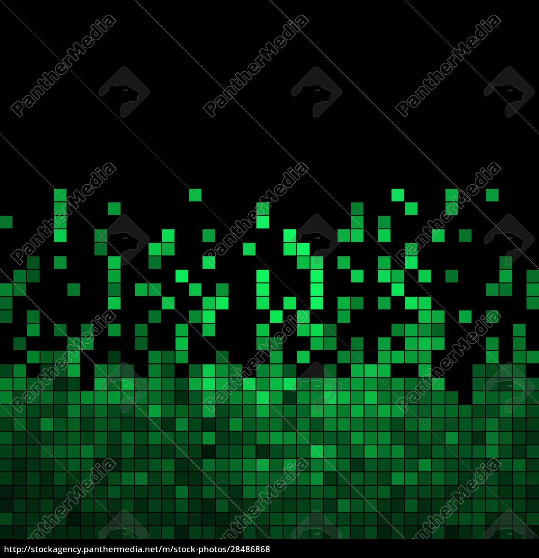 abstrakter, quadratischer, pixelmosaikhintergrund - 28486868