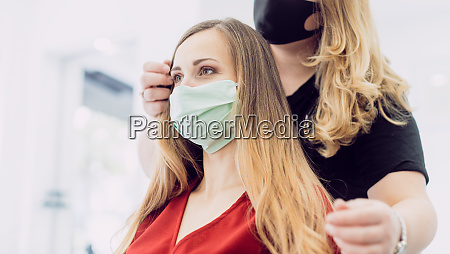 woman with fresh hair styling in