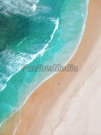 aerial view of tallebudgera beach in