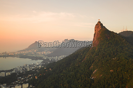 aerial view of christ the redeemer