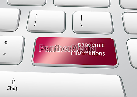 pandemic informations concept pc keyboard vector