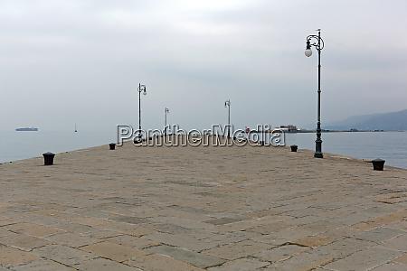 trieste empty pier