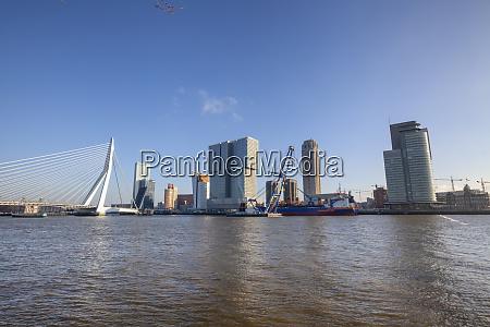modernes rotterdam skyline panorama niederlande