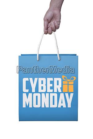 shopper mit cyber monday paperbag pc